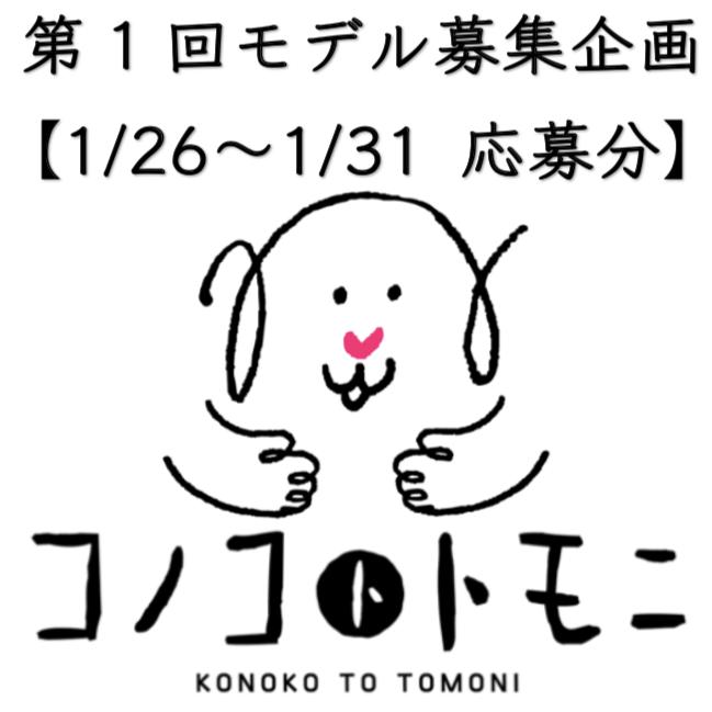 【モデル募集】我が家のコノコ大公開③【2019/1/26〜1/31応募分】